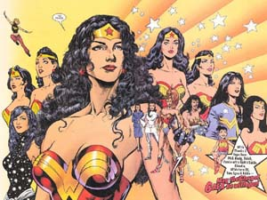 Artist Phil Jimenez portrays the many incarnations of Wonder Woman since her creation in 1941